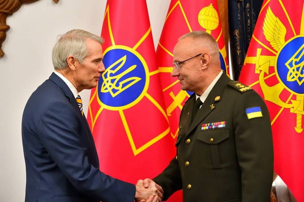 Portman meets with Chief of Staff of the Ukraine Armed Forces Ruslan Khomchak