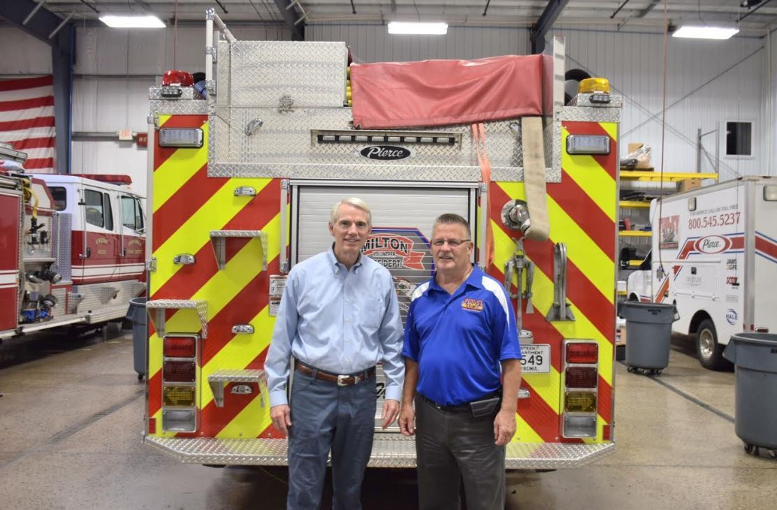 In Morgan County, Portman Continues His Three-Day Tour Across Southern & Southeast Ohio at Finley Fire Equipment