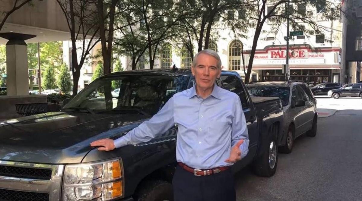 Portman Stands in Front of Truck and Highlights Work in Ohio During August
